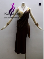KAKA-L1305,Women Latin Dance Wear,Girls Salsa Practice Dance Dress Tango Samba Rumba Chacha Dance Dress,Latin Dance Dres