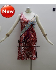 KAKA-L1306,Women Latin Dance Wear,Girls Salsa Practice Dance Dress Tango Samba Rumba Chacha Dance Dress,Latin Dance Dres