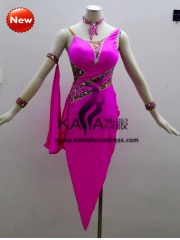KAKA-L1307,Women Latin Dance Wear,Girls Salsa Practice Dance Dress Tango Samba Rumba Chacha Dance Dress,Latin Dance Dres