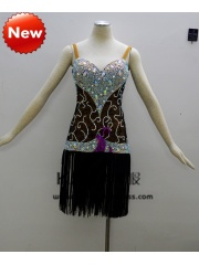 KAKA-L1309,Women Latin Dance Wear,Girls Salsa Practice Dance Dress Tango Samba Rumba Chacha Dance Dress,Latin Dance Dres