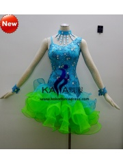 KAKA-L1310,Women Latin Dance Wear,Girls Salsa Practice Dance Dress Tango Samba Rumba Chacha Dance Dress,Latin Dance Dres
