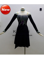 KAKA-L1312,Women Latin Dance Wear,Girls Salsa Practice Dance Dress Tango Samba Rumba Chacha Dance Dress,Latin Dance Dres