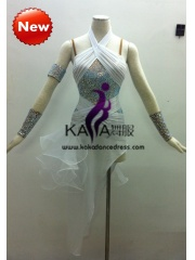KAKA-L1314,Women Latin Dance Wear,Girls Salsa Practice Dance Dress Tango Samba Rumba Chacha Dance Dress,Latin Dance Dres