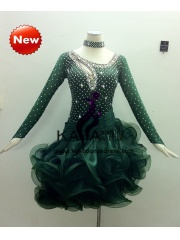 KAKA-L1316,Women Latin Dance Wear,Girls Salsa Practice Dance Dress Tango Samba Rumba Chacha Dance Dress,Latin Dance Dres