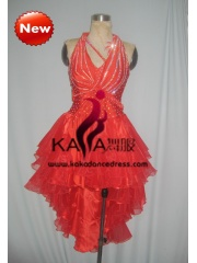 KAKA-L1317,Women Latin Dance Wear,Girls Salsa Practice Dance Dress Tango Samba Rumba Chacha Dance Dress,Latin Dance Dres