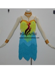 KAKA-L1322,Women Latin Dance Wear,Girls Salsa Practice Dance Dress Tango Samba Rumba Chacha Dance Dress,Latin Dance Dres