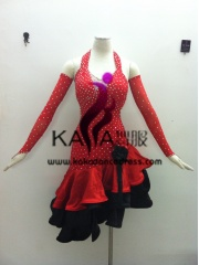 KAKA-L1328,Women Latin Dance Wear,Girls Salsa Practice Dance Dress Tango Samba Rumba Chacha Dance Dress,Latin Dance Dres