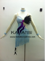 KAKA-L1329,Women Latin Dance Wear,Girls Salsa Practice Dance Dress Tango Samba Rumba Chacha Dance Dress,Latin Dance Dres