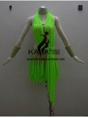 KAKA-L1332,Women Latin Dance Wear,Girls Salsa Practice Dance Dress Tango Samba Rumba Chacha Dance Dress,Latin Dance Dres