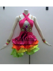KAKAL1334,Women Latin Dance Wear,Girls Salsa Practice Dance Dress Tango Samba Rumba Chacha Dance Dress,Latin Dance Dress