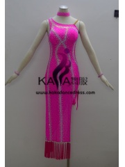 KAKAL1342,Women Latin Dance Wear,Girls Salsa Practice Dance Dress Tango Samba Rumba Chacha Dance Dress,Latin Dance Dress