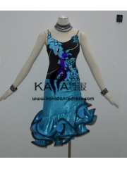 KAKAL1344,Women Latin Dance Wear,Girls Salsa Practice Dance Dress Tango Samba Rumba Chacha Dance Dress,Latin Dance Dress