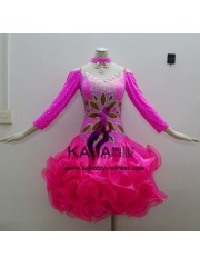 KAKAL1345,Women Latin Dance Wear,Girls Salsa Practice Dance Dress Tango Samba Rumba Chacha Dance Dress,Latin Dance Dress