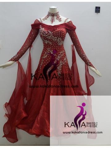 KAKA DANCE B1349,Ballroom Standard Dance Dress,Waltz Dance Competition Dress,Women,Girl,Ballroom Dance Dress