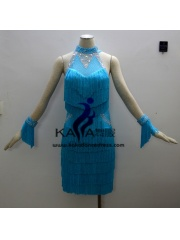 KAKAL1354,Women Latin Dance Wear,Girls Salsa Practice Dance Dress Tango Samba Rumba Chacha Dance Dress,Latin Dance Dress