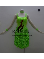 KAKAL1379,Women Latin Dance Wear,Girls Salsa Practice Dance Dress Tango Samba Rumba Chacha Dance Dress,Latin Dance Dress