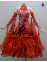 KAKA DANCE B1350,Ballroom Standard Dance Dress,Waltz Dance Competition Dress,Women,Girl,Ballroom Dance Dress