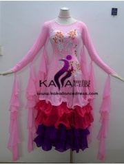 KAKA DANCE B1351,Ballroom Standard Dance Dress,Waltz Dance Competition Dress,Women,Girl,Ballroom Dance Dress