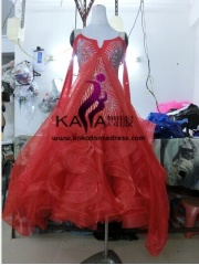 KAKA DANCE B1355,Ballroom Standard Dance Dress,Waltz Dance Competition Dress,Women,Girl,Ballroom Dance Dress
