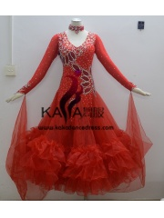 KAKA DANCE B1358,Ballroom Standard Dance Dress,Waltz Dance Competition Dress,Women,Girl,Ballroom Dance Dress