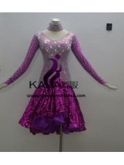 KAKAL1412,Women Latin Dance Wear,Girls Salsa Practice Dance Dress Tango Samba Rumba Chacha Dance Dress,Latin Dance Dress
