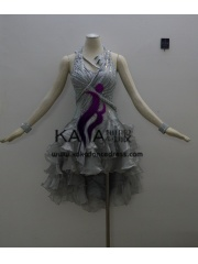 KAKAL1413,Women Latin Dance Wear,Girls Salsa Practice Dance Dress Tango Samba Rumba Chacha Dance Dress,Latin Dance Dress