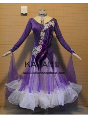 KAKA DANCE B1372,Ballroom Standard Dance Dress,Waltz Dance Competition Dress,Women,Girl,Ballroom Dance Dress