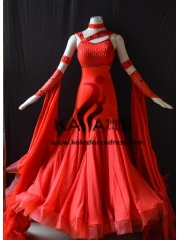 KAKA DANCE B1376,Red Or White Ballroom Standard Dance Dress,Waltz Dance Competition Dress,Women,Girl,Ballroom Dance Dres