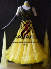 KAKA DANCE B1378,Ballroom Standard Dance Dress,Waltz Dance Competition Dress,Women,Girl,Ballroom Dance Dress