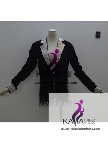 100% New Competition Dance Man Latin Shirt,Boys Latin Dance Men Dress,Latin Dance Adult Shirt,KAKAM003