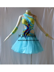 KAKAL1431,Women Latin Dance Wear,Girls Salsa Practice Dance Dress Tango Samba Rumba Chacha Dance Dress,Latin Dance Dress