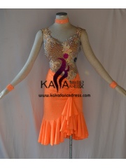 KAKAL1432,Women Latin Dance Wear,Girls Salsa Practice Dance Dress Tango Samba Rumba Chacha Dance Dress,Latin Dance Dress