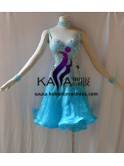 KAKAL1435,Women Latin Dance Wear,Girls Salsa Practice Dance Dress Tango Samba Rumba Chacha Dance Dress,Latin Dance Dress