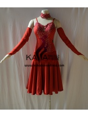 KAKAL1439,Women Latin Dance Wear,Girls Salsa Practice Dance Dress Tango Samba Rumba Chacha Dance Dress,Latin Dance Dress