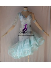 KAKAL1449,Women Latin Dance Wear,Girls Salsa Practice Dance Dress Tango Samba Rumba Chacha Dance Dress,Latin Dance Dress