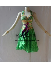KAKAL1450,Women Latin Dance Wear,Girls Salsa Practice Dance Dress Tango Samba Rumba Chacha Dance Dress,Latin Dance Dress