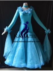 KAKA DANCE B1400,Ballroom Standard Dance Dress,Waltz Dance Competition Dress,Women,Girl,Ballroom Dance Dress