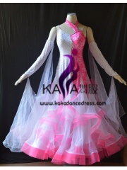 KAKA DANCE B1402,Ballroom Standard Dance Dress,Waltz Dance Competition Dress,Women,Girl,Ballroom Dance Dress