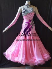 KAKA DANCE B1403,Ballroom Standard Dance Dress,Waltz Dance Competition Dress,Women,Girl,Ballroom Dance Dress