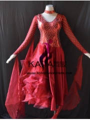 KAKA DANCE B1407,Ballroom Standard Dance Dress,Waltz Dance Competition Dress,Women,Girl,Ballroom Dance Dress