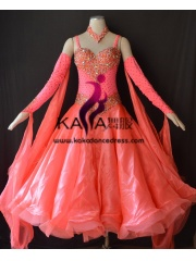 KAKA DANCE B1411,Ballroom Standard Dance Dress,Waltz Dance Competition Dress,Women,Girl,Ballroom Dance Dress