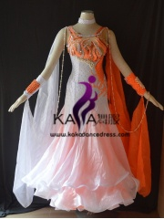 KAKA DANCE B1414,Ballroom Standard Dance Dress,Waltz Dance Competition Dress,Women,Girl,Ballroom Dance Dress