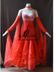 KAKA DANCE B1419,Ballroom Standard Dance Dress,Waltz Dance Competition Dress,Women,Girl,Ballroom Dance Dress