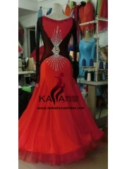 KAKA DANCE B1433,Ballroom Standard Dance Dress,Waltz Dance Competition Dress,Women,Girl,Ballroom Dance Dress
