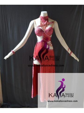 KAKAL1478,Women Latin Dance Wear,Girls Salsa Practice Dance Dress Tango Samba Rumba Chacha Dance Dress,Latin Dance Dress