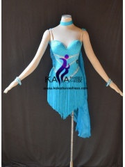 KAKAL1482,Women Latin Dance Wear,Girls Salsa Practice Dance Dress Tango Samba Rumba Chacha Dance Dress,Latin Dance Dress