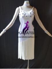 KAKAL1485,Women Latin Dance Wear,Girls Salsa Practice Dance Dress Tango Samba Rumba Chacha Dance Dress,Latin Dance Dress