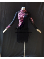 KAKAL1486,Women Latin Dance Wear,Girls Salsa Practice Dance Dress Tango Samba Rumba Chacha Dance Dress,Latin Dance Dress