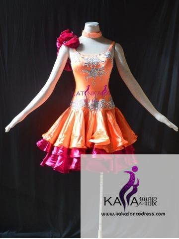 KAKAL1492,Women Latin Dance Wear,Girls Salsa Practice Dance Dress Tango Samba Rumba Chacha Dance Dress,Latin Dance Dress