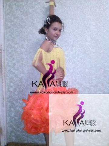 KAKAL1491,Women Latin Dance Wear,Girls Salsa Practice Dance Dress Tango Samba Rumba Chacha Dance Dress,Latin Dance Dress